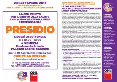 Legge 194: 28/09 presidio in regione Veneto. A che punto siamo?