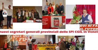 I nuovi segretari eletti nei congressi provinciali dello SPI in Veneto