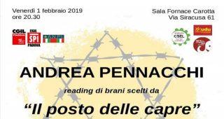 Il posto delle capre, una storia familiare, a Padova il 1 febbraio