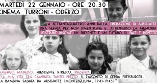 Parole e immagini per non dimenticare, martedì 22 gennaio a Oderzo (TV)