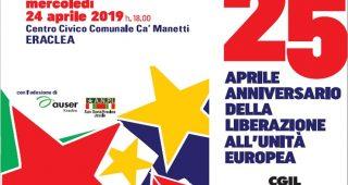 Dal 25 aprile Anniversario della Liberazione all'Unità Europea
