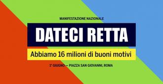 """""""DATECI RETTA"""", 4 MILA PENSIONATI VENETI ALLA MANIFESTAZIONE DI ROMA IN PROGRAMMA SABATO"""